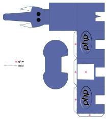 Mascote PHP paperCraft
